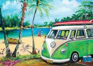 Peppermint Kombi (BL02031), a 1000 piece jigsaw puzzle by Blue OpalArtist Jenny Sanders. Click to view this jigsaw puzzle.