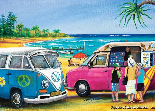 Blue Kombi and Mister Whippy (BL02030), a 1000 piece jigsaw puzzle by Blue Opal.