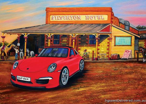 A Porsche in the Outback (BL02036), a 1000 piece jigsaw puzzle by Blue Opal.
