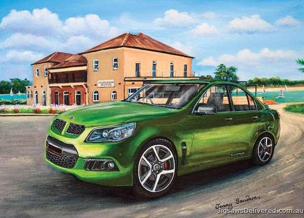 Green Clubsport at Huskisson Hotel (BL02034), a 1000 piece jigsaw puzzle by Blue Opal.