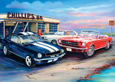 A Cluster of Mustangs (BL02028), a 1000 piece Blue Opal jigsaw puzzle.