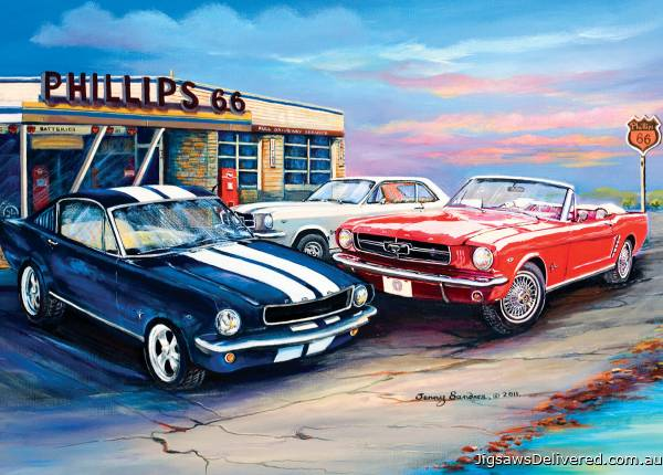A Cluster of Mustangs (BL02028), a 1000 piece jigsaw puzzle by Blue Opal.