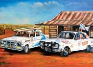 Outback Rally Rivals (BL02022), a 1000 piece jigsaw puzzle by Blue OpalArtist Jenny Sanders. Click to view this jigsaw puzzle.