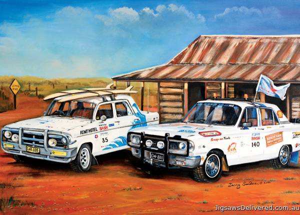 Outback Rally Rivals (BL02022), a 1000 piece jigsaw puzzle by Blue Opal.