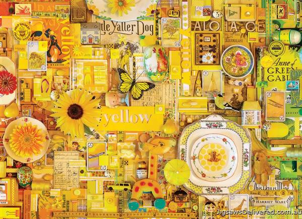 Yellow (Rainbow Project) (COB80148), a 1000 piece jigsaw puzzle by Cobble Hill.