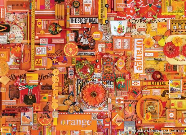 Orange (Rainbow Project) (COB80147), a 1000 piece jigsaw puzzle by Cobble Hill.