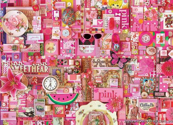 Pink (Rainbow Project) (COB80145), a 1000 piece jigsaw puzzle by Cobble Hill.