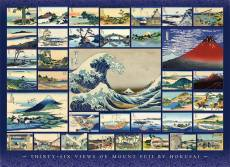 Thirty-Six Views of Mount Fuji (COB80235), a 1000 piece Cobble Hill jigsaw puzzle.