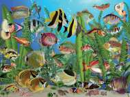 Aquarium (Large Pieces) (COB88003), a 275 piece jigsaw puzzle by Cobble Hill. Click to view this jigsaw puzzle.