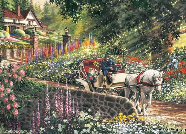 Carriage (Large Pieces) (COB88028), a 275 piece jigsaw puzzle by Cobble Hill.