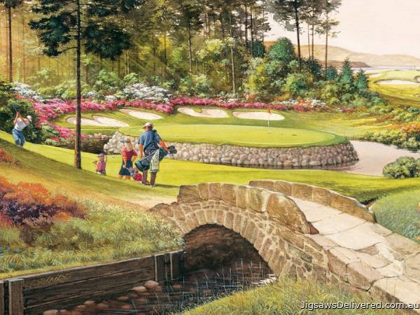 Golf Course (Large Pieces) (COB88022), a 275 piece jigsaw puzzle by Cobble Hill.