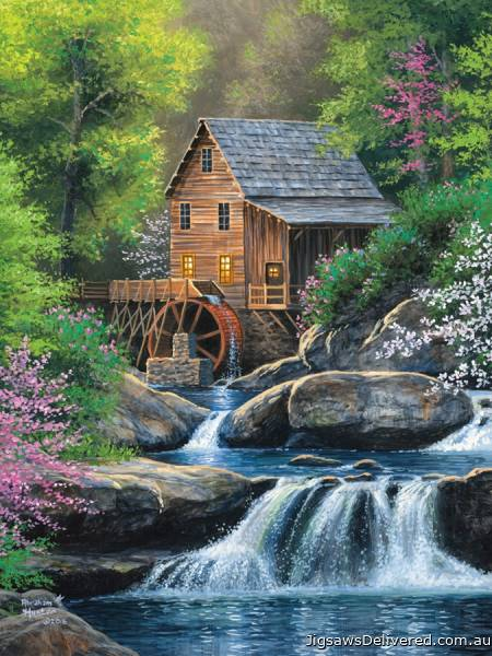 Spring Mill (Large Pieces) (COB88020), a 275 piece jigsaw puzzle by Cobble Hill.