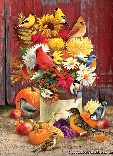 Autumn Bouquet (COB80183), a 1000 piece jigsaw puzzle by Cobble Hill.