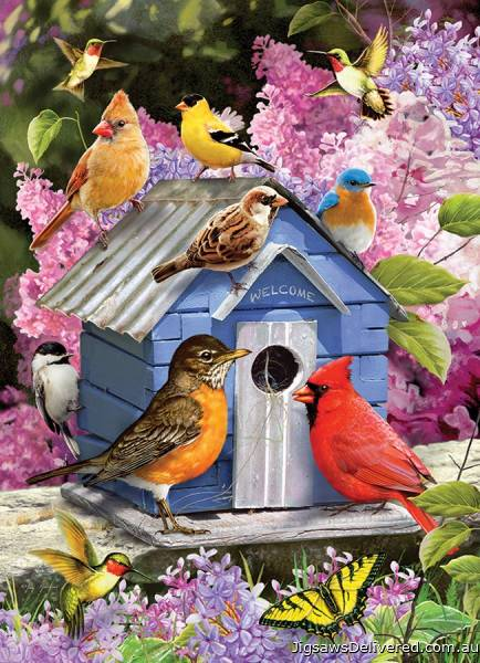 Spring Birdhouse (COB80153), a 1000 piece jigsaw puzzle by Cobble Hill.