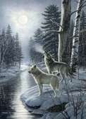 Wolves by Moonlight (COB80108), a 1000 piece Cobble Hill jigsaw puzzle.