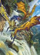 Waterfall Dragons (COB80105), a 1000 piece Cobble Hill jigsaw puzzle.