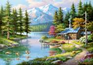 Resting Canoe (ANA4554), a 1500 piece jigsaw puzzle by Anatolian. Click to view this jigsaw puzzle.