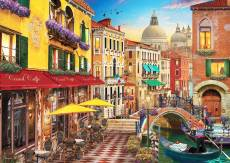 Canal Cafe, Venice Italy (ANA4553), a 1500 piece jigsaw puzzle by Anatolian. Click to view this jigsaw puzzle.