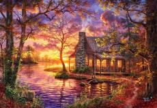 Hiding Place Cabin (ANA3608), a 500 piece jigsaw puzzle by Anatolian. Click to view this jigsaw puzzle.