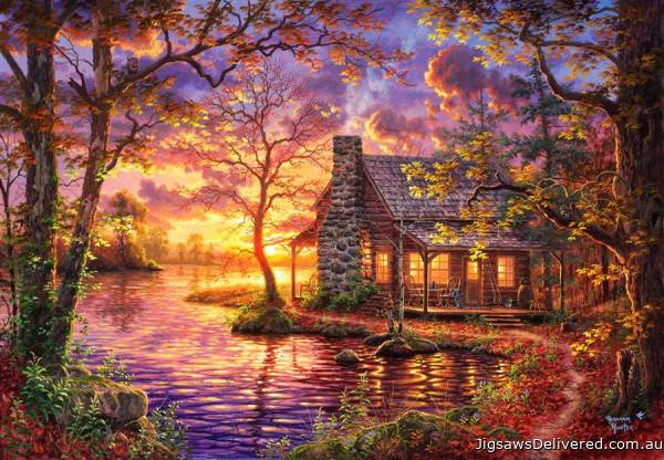 Hiding Place Cabin (ANA3608), a 500 piece jigsaw puzzle by Anatolian.