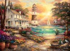 Cottage by the Sea (ANA1075), a 1000 piece Anatolian jigsaw puzzle.
