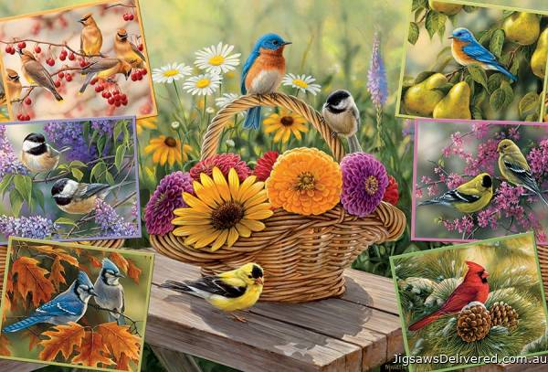 Rosemary's Birds (COB50712), a 2000 piece jigsaw puzzle by Cobble Hill.