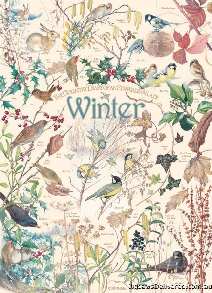 Winter (Country Diary) (COB80214), a 1000 piece jigsaw puzzle by Cobble Hill.