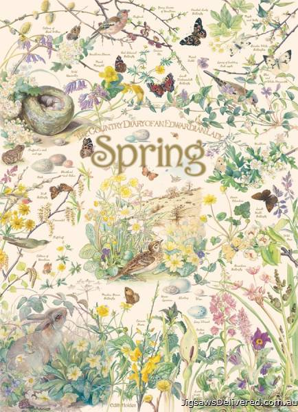 Spring (Country Diary) (COB80211), a 1000 piece jigsaw puzzle by Cobble Hill.