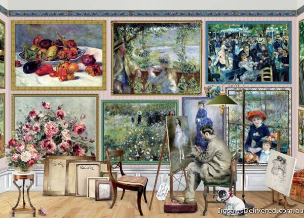 Renoir at Work (Works of Art) (HOL771349), a 1000 piece jigsaw puzzle by Holdson.