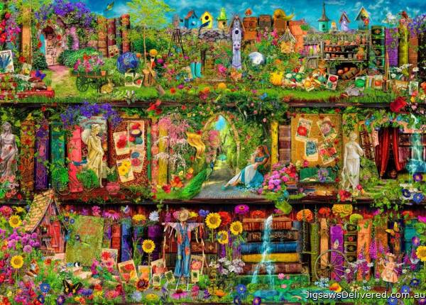 Garden Shelf (Treat yo' Shelf) (HOL771394), a 1000 piece jigsaw puzzle by Holdson.