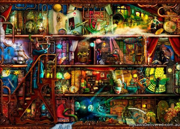 Fantastic Voyage (Treat yo' Shelf) (HOL771387), a 1000 piece jigsaw puzzle by Holdson.