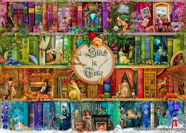 Stitch in Time (Treat yo' Shelf) (HOL771370), a 1000 piece jigsaw puzzle by Holdson.