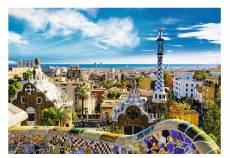 Park Guell, Barcelona Spain (TRE26147), a 1500 piece jigsaw puzzle by Trefl. Click to view this jigsaw puzzle.