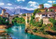 Old Bridge, Mostar, Bosnia and Herzegovina (TRE37333), a 500 piece jigsaw puzzle by Trefl. Click to view this jigsaw puzzle.