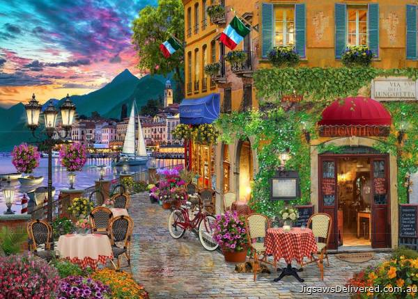 Italian Fascino (Of Land & Sea) (HOL771554), a 1000 piece jigsaw puzzle by Holdson.