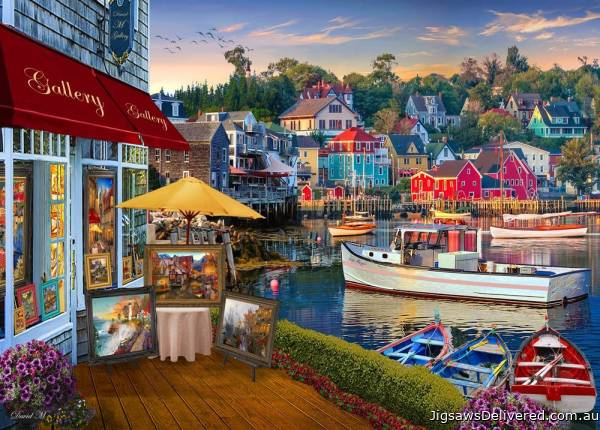 Harbour Gallery (Of Land & Sea) (HOL771523), a 1000 piece jigsaw puzzle by Holdson.