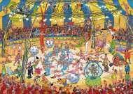 Acrobat Circus (JUM19089), a 1000 piece jigsaw puzzle by JumboArtist Jan van Haasteren. Click to view this jigsaw puzzle.