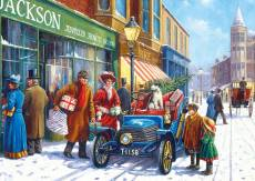 Family Christmas Shop (Large Pieces) (GIB022148), a 100 piece Gibsons jigsaw puzzle.