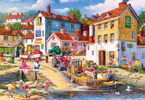 The Four Bells Harbour (2000pc) (GIB080155), a 2000 piece jigsaw puzzle by Gibsons.