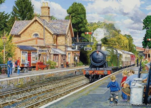 Hampton Loade, Severn Valley Railway (Large Pieces) (HOL771820), a 500 piece jigsaw puzzle by Holdson.