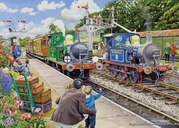 Horsted Keynes, Bluebell Railway (Large Pieces) (HOL771820), a 500 piece jigsaw puzzle by Holdson.