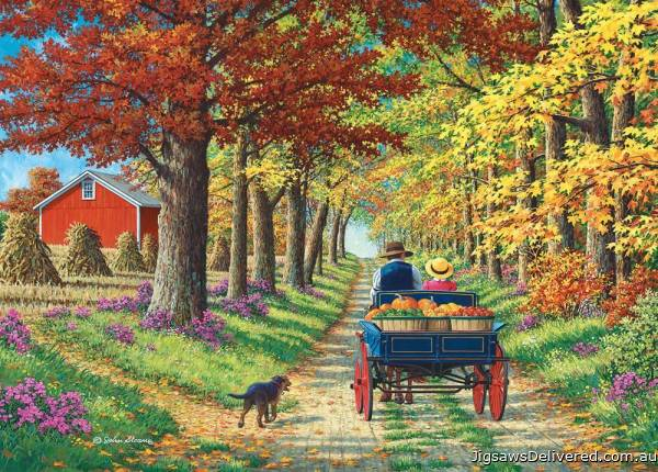 Shady Lane (Living a Country Life) (HOL771660), a 1000 piece jigsaw puzzle by Holdson.