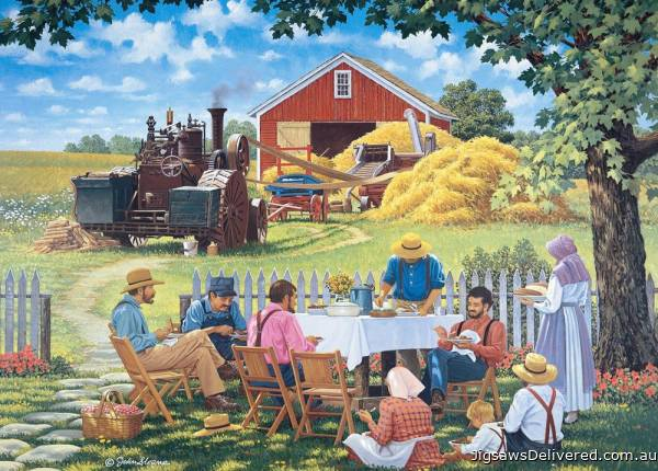 Our Daily Bread (Living a Country Life) (HOL771653), a 1000 piece jigsaw puzzle by Holdson.