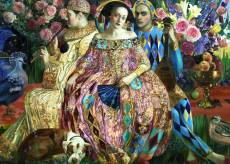 Love Interest (Renaissance Realm) (HOL771585), a 1000 piece jigsaw puzzle by Holdson and artist Olga Suvorova. Click to view this jigsaw puzzle.