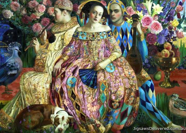 Love Interest (Renaissance Realm) (HOL771585), a 1000 piece jigsaw puzzle by Holdson.