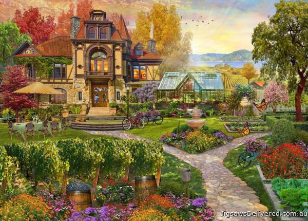 Vineyard Retreat (Home Sweet Home) (HOL771714), a 1000 piece jigsaw puzzle by Holdson.