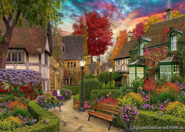 English Garden (Home Sweet Home) (HOL771707), a 1000 piece jigsaw puzzle by Holdson.