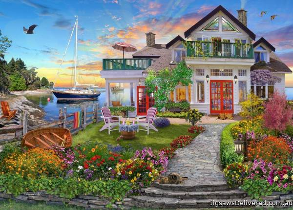 Coastal Escape (Home Sweet Home) (HOL771684), a 1000 piece jigsaw puzzle by Holdson.