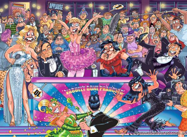 Strictly Can't Dance! (Original Wasgij 30) (HOL771615), a 1000 piece jigsaw puzzle by Holdson.