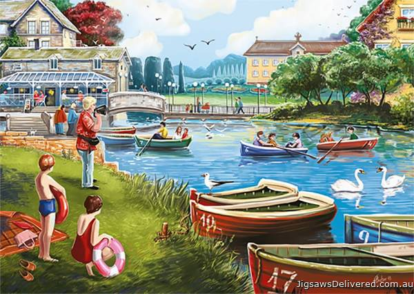 The Boating Lake (JUM11252), a 1000 piece jigsaw puzzle by Jumbo.